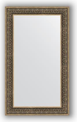 Зеркало в багетной раме 73x123см вензель серебряный 101мм Evoform BY 3224