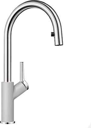 Смеситель кухонный однорычажный с высоким выдвижным изливом, жемчужный Blanco CARENA-S 520983