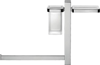 Штанга подвесная с аксессуарами для ванной, хром Colombo UNITS B9120.S.CR-VAN
