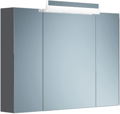 Шкаф зеркальный подвесной со светильником, 3 двери, 100x15x70см Verona Moderna MD604