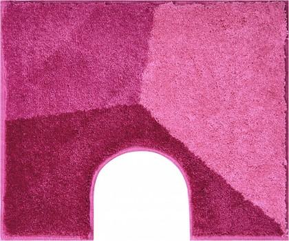 Коврик с вырезом под туалет 60x50см розовый Grund SHI WC 3625.06.233