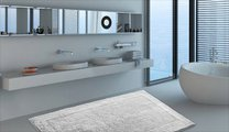Коврик двухсторонний для ванной 60x100см серый Grund LUXOR 2625.16.7299
