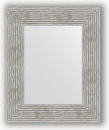 Зеркало в багетной раме 46x56см волна хром 90мм Evoform BY 3025