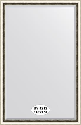 Зеркало 113x173см с фацетом 30мм в багетной раме старое серебро с плетением Evoform BY 1212