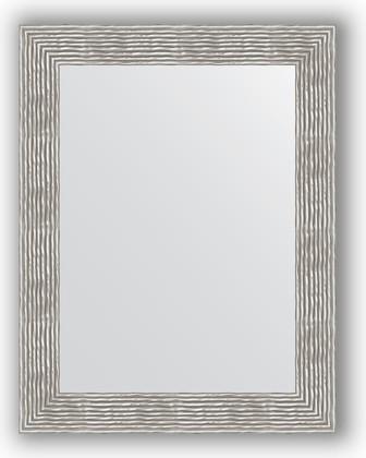 Зеркало в багетной раме 70x90см волна хром 90мм Evoform BY 3185