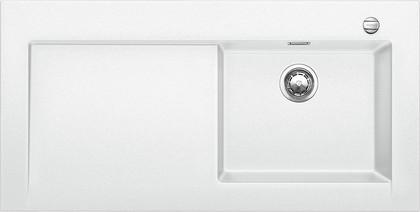 Кухонная мойка крыло слева, с клапаном-автоматом, гранит, белый Blanco MODEX-M 60 518331