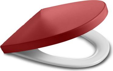 """Сиденье и крышка с механизмом """"мягкое закрывание"""" для унитаза, красный Roca KHROMA 801652F3T"""