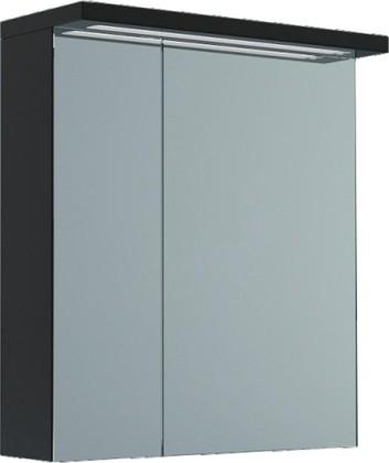 Шкаф зеркальный подвесной со светильником, 2 двери 60x23x73см Verona Viva VA602