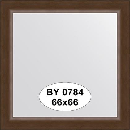 Зеркало 66x66см в багетной раме орех Evoform BY 0784