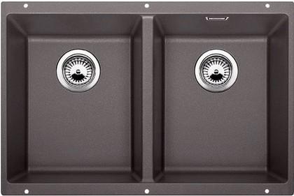 Кухонная мойка без крыла, с клапаном-автоматом, гранит, тёмная скала Blanco SUBLINE 350/350-U 518959