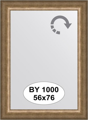 Зеркало 56x76см в багетной раме старая бронза Evoform BY 1000