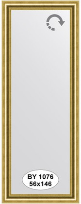 Зеркало 56x146см в багетной раме старое золото Evoform BY 1076