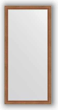 Зеркало в багетной раме 75x155см бронзовые бусы на дереве 60мм Evoform BY 3331