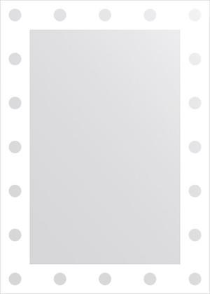 Зеркало для ванной с орнаментом 50x70см FBS CZ 0730