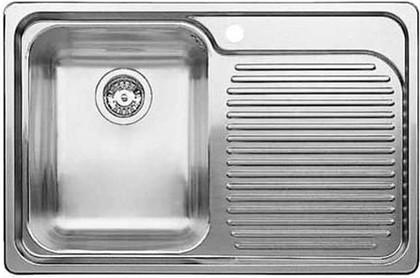 Кухонная мойка чаша слева, крыло справа, нержавеющая сталь зеркальной полировки Blanco CLASSIC 4 S-IF 518767