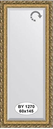 Зеркало 60x145см с фацетом 30мм в багетной раме виньетка бронзовая Evoform BY 1270
