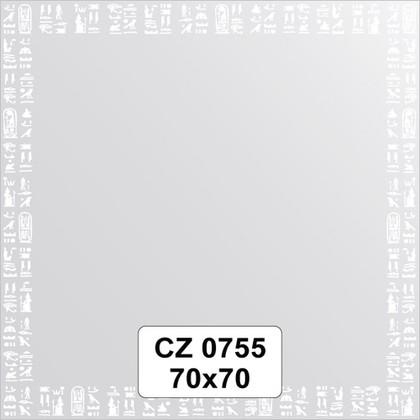 Зеркало для ванной с орнаментом 70x70см FBS CZ 0755