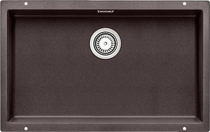 Кухонная мойка без крыла, с клапаном-автоматом, гранит, тёмная скала Blanco SUBLINE 700-U 518968