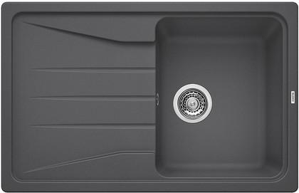 Кухонная мойка оборачиваемая с крылом, гранит, тёмная скала Blanco SONA 45 S 519663
