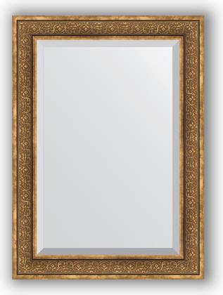 Зеркало с фацетом в багетной раме 79x109см вензель бронзовый 101мм Evoform BY 3474