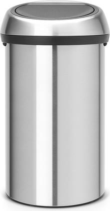 Ведро для мусора 60л стальное матовое Brabantia TOUCH BIN 484506