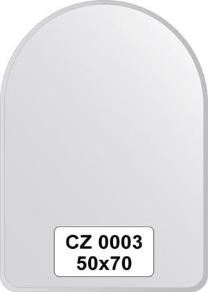 Зеркало для ванной 50x70см с фацетом 10мм FBS CZ 0003