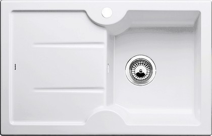 Кухонная мойка чаша справа, крыло слева, керамика, белый глянцевый Blanco IDESSA 45 S 514498
