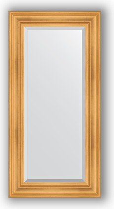 Зеркало с фацетом в багетной раме 59x119см травленое золото 99мм Evoform BY 3496