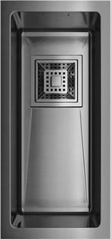 Кухонная мойка без крыла, нержавеющая вороненая сталь Omoikiri Akisame 20-U-GM 4993105