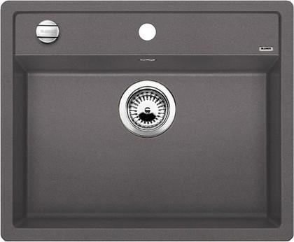 Кухонная мойка без крыла, с клапаном-автоматом, гранит, тёмная скала Blanco DALAGO 6-F 518851