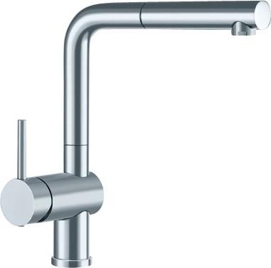 Смеситель кухонный однорычажный с высоким выдвижным изливом, рычаг управления слева, нержавеющая сталь Blanco LINUS-S 514017