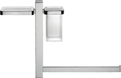 Штанга подвесная с аксессуарами для ванной, хром Colombo UNITS B9120.D.CR-VA