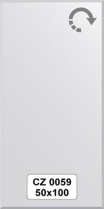 Зеркало для ванной 50x100см с фацетом 10мм FBS CZ 0059