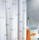 Штора для ванной комнаты 180x200см текстильная, серебристая Spirella KOS 1001008