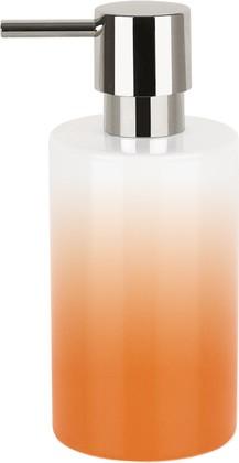 Ёмкость для жидкого мыла фарфоровая оранжевая Spirella TUBE GRADIENT 1017957