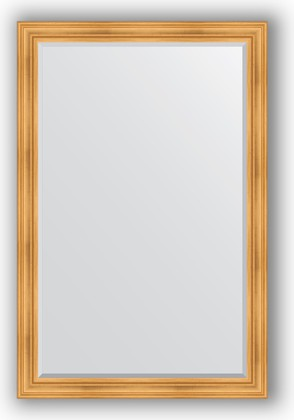 Зеркало с фацетом в багетной раме 119x179см травленое золото 99мм Evoform BY 3626