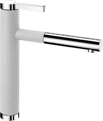 Смеситель кухонный однорычажный с выдвижным изливом, жемчужный / хром Blanco LINEE-S 520745