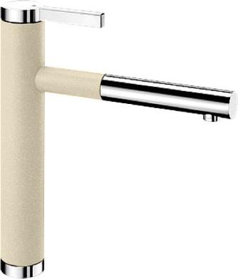 Смеситель кухонный однорычажный с выдвижным изливом, жасмин / хром Blanco LINEE-S 518442