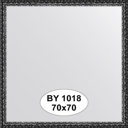 Зеркало 70x70см в багетной раме чернёное серебро Evoform BY 1018