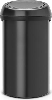 Ведро для мусора 60л чёрное матовое Brabantia TOUCH BIN 402562