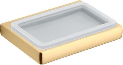 Мыльница настенная стеклянная в металлическом корпусе, золото Colombo LULU B6201.gold