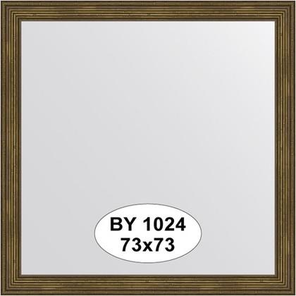 Зеркало 73x73см в багетной раме сухой тростник Evoform BY 1024