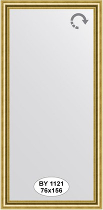 Зеркало 76x156см в багетной раме старое золото Evoform BY 1121