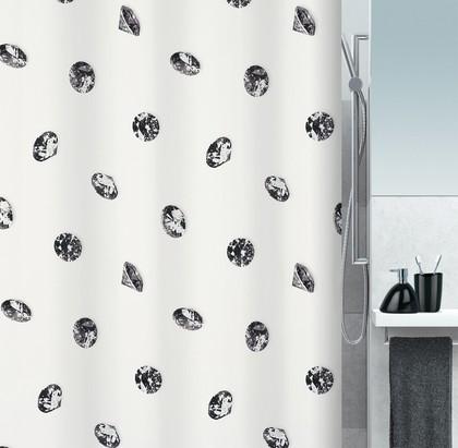 Штора для ванны 180x200см текстильная Spirella CRYSTAL 1016403