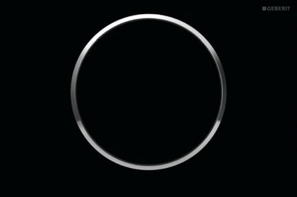 Клавиша смыва, чёрная с глянцевым хромом Geberit Sigma10 115.758.KM.5