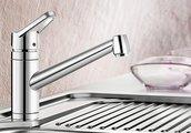 Смеситель кухонный однорычажный с длинным рычагом управления, хром Blanco ACTIS 512889