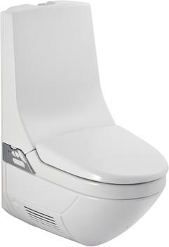 Подвесной белый унитаз-биде с наружным бачком и дистанционным ПУ Geberit AquaClean 8000plus 186.100.11.1