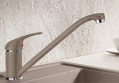 Смеситель однорычажный для кухонной мойки, SILGRANIT жемчужный Blanco DARAS 520735