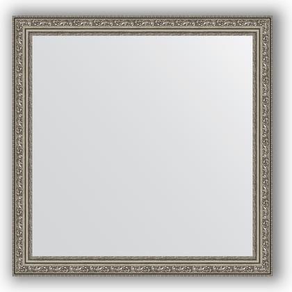 Зеркало в багетной раме 74x74см виньетка состаренное серебро 56мм Evoform BY 3232