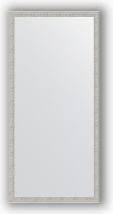 Зеркало в багетной раме 71x151см волна алюминий 46мм Evoform BY 3326